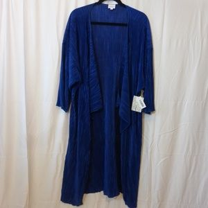 LuLaRoe Shirley Micropleat Cobalt Blue Size L